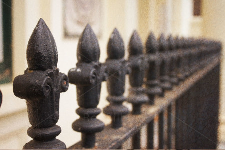 Red Bilby Wrought Iron Fence